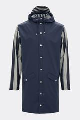 Rains || LTD long jacket: distorted stripes