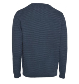KCA || small diamond knit pull: dark denim