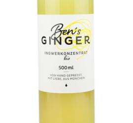 Ben's Ginger    biologische gember concentraat    500ML