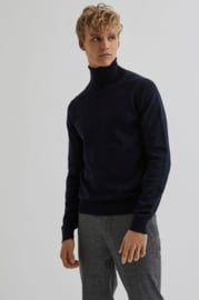 Bertoni || HENRIK roll neck: dress blue