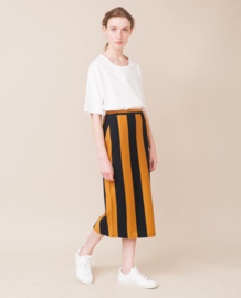 Beaumont Organic || PAM SOPHIA skirt stripes: navy/flint