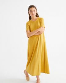 Thinking Mu II QUEME Dress: mustard