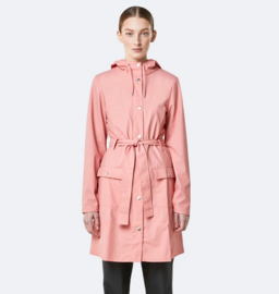 RAINS    CURVE jacket: coral