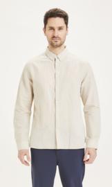 KCA || LARCH linen shirt: light feather gray-ALLEEN L BESCHIKBAAR-