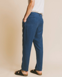 Thinking Mu || MARCELINO hemp pants: blue