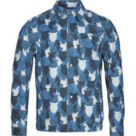 KCA || twill  jacket owl print: skyway