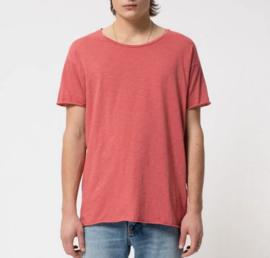Nudie Jeans    ROGER slub tshirt: dusty red