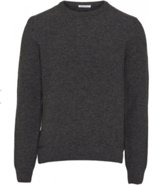 KCA || FIELD reversed wool knit: dark grey melange