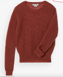 Bellamy Gallery    ANIEK ajour sweater: red brown