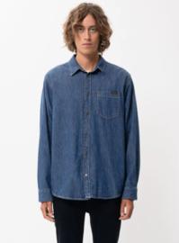 Nudie Jeans || Albert shirt; Mid worn denim