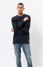 Nudie Jeans || HAMPUS pull knitted: black blue block