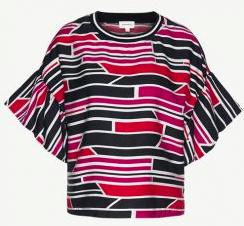 Armed Angels || BENGI blouse bricks: pink orange black