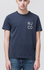 Nudie Jeans || ROY logo t-shirt: navy