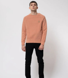 Nudie Jeans || MELVIN sweat njco logo: apricot