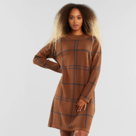 Dedicated || LO dress big check: brown blue