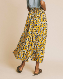Thinking Mu || MOLOPO skirt abstract flowers: mustard