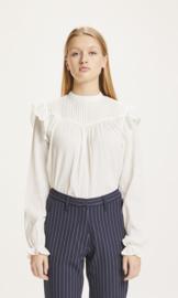 KCA || LILY blouse ruffle: snow white