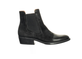 Ten Points || JESSIE boot vegetable tanned nubuck: black -ALLEEN 38 BESCHIKBAAR-