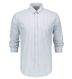 Goodpeople shirt slug stripe WING RIDER; white blue