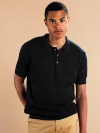 Dedicated || GNESTA sweater short sleeve: black