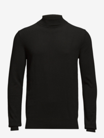 Bertoni || HENRIK black rollneck knit: jet