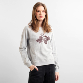 Dedicated || YSTAD sweater cone bird: grey melange