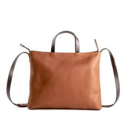 Hardols Bags || CHAZA handlebag: cognac