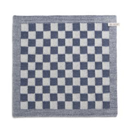 Knit factory || keukendoek block: ecru jeans