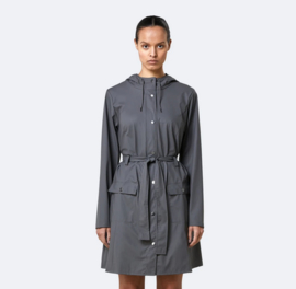 RAINS || CURVE jacket: charcoal