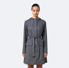 RAINS || CURVE jacket: charcoal