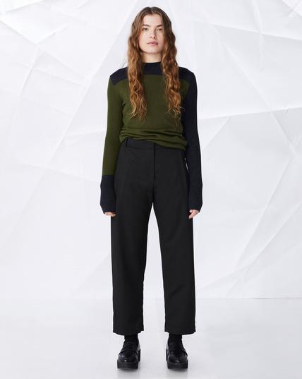Elvine    SANDI pants: black