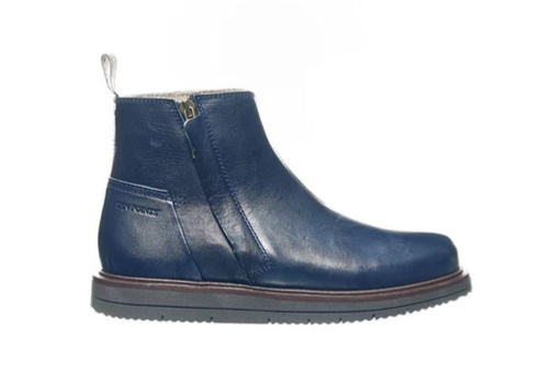Ten Points || CARINA vegetable tanned leather; midnight blue