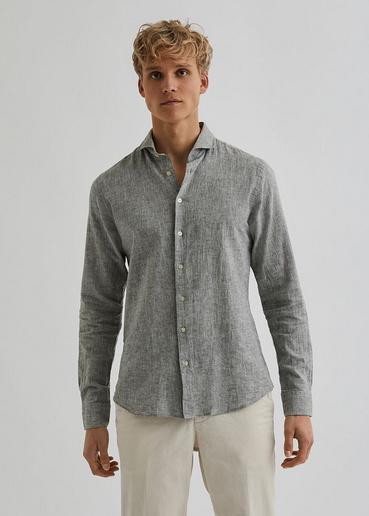 Bertoni    BART linen shirt: Olive