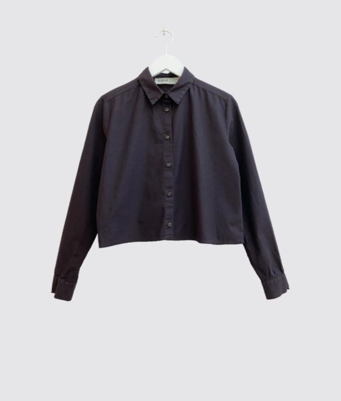 CUS || SEGVI crop blouse: aubergine