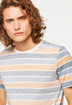 Armed Angels    JAMES t-shirt stripes: dusty apricot