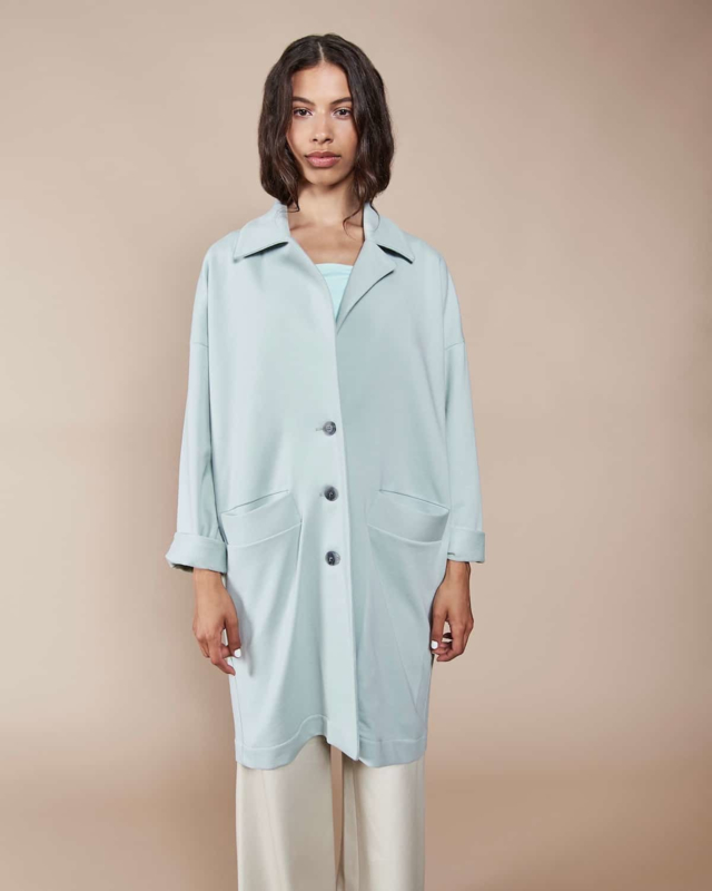Jan N June || BRADFORT light coat: mint