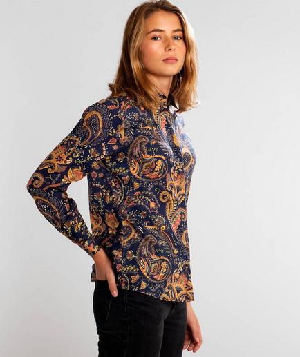 Dedicated || DOROTHEA blouse: bold paisley