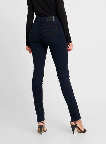 Nudie Jeans    SKINNY LIN jeans: mali blue
