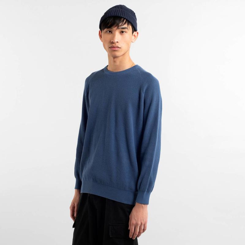 Dedicated || KALMAR sweater organic cotton: blue