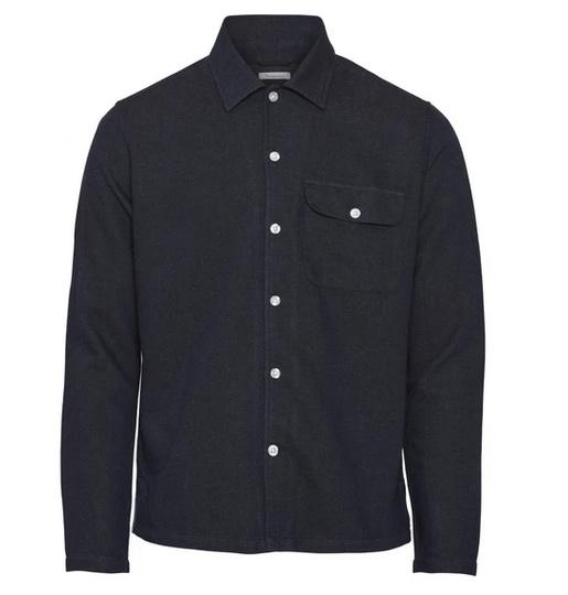 KCA || Flannel overshirt: jeansblue