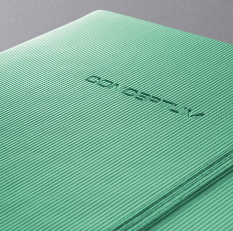 Conceptum || NOTEBOOK hardcover lined: green