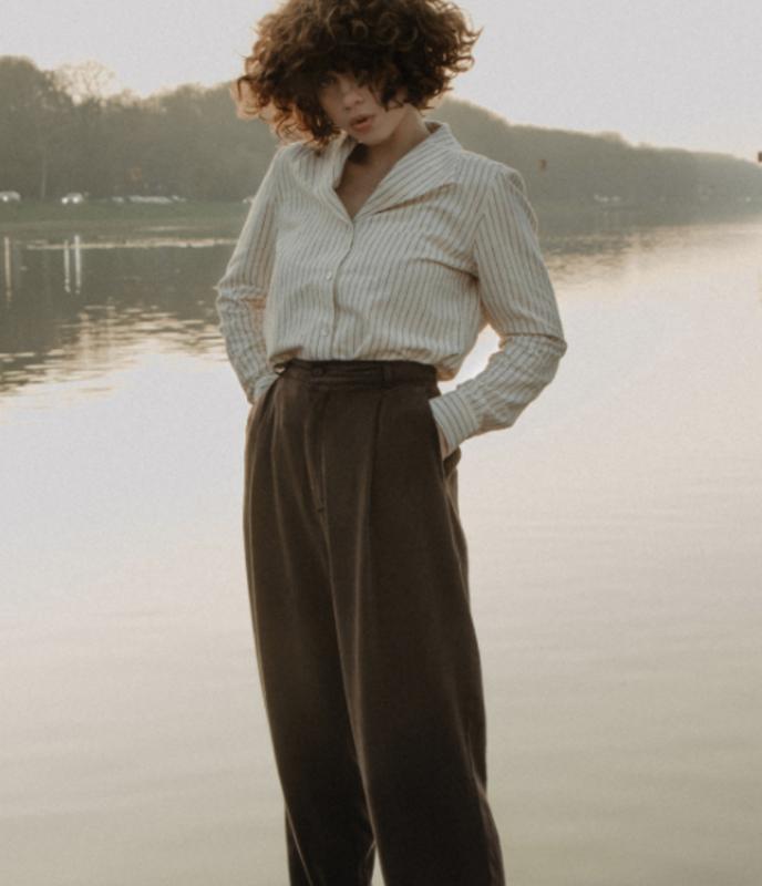 CUS || SON trousers tencel: pecan