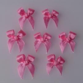 Satijnen strikjes Pink *RB-00044* (10 stuks) (FT77)