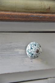 JDL - kastknopjes wit/groen