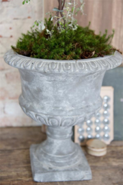 JDL  Grote vintage bloempot 35 cm - warm grijs