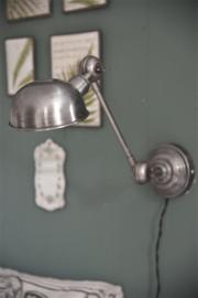JDL wandlamp - antiek zilver