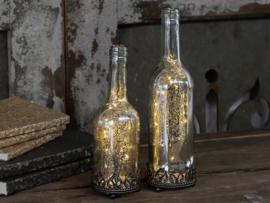 """Chic Antique"" Oude fles met lichtjes"