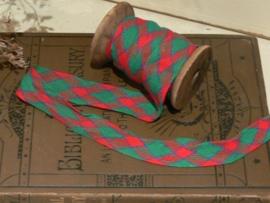 Band rood / groen - lengte 2.35 m. (SK32)