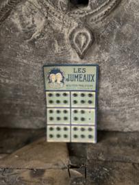 Oud kaartje met drukkertjes Les Jumeaux
