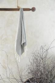 JDL - Gastenhanddoek cream/grey